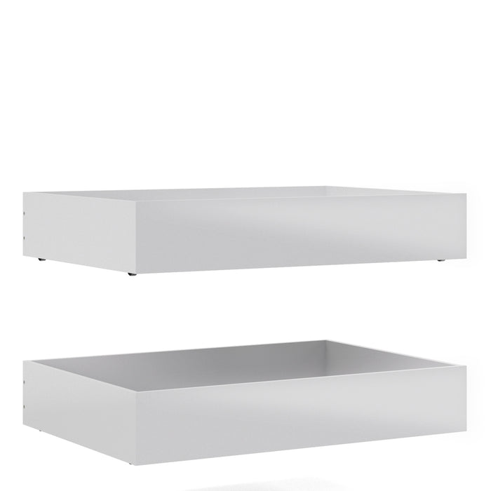Naia Naia Set of 2 Underbed Drawers (for Single or Double beds) in White High Gloss