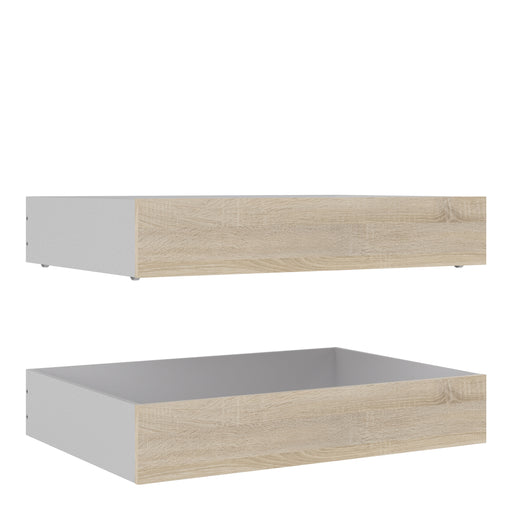 Naia Naia Set of 2 Underbed Drawers (for Single or Double beds) in Oak