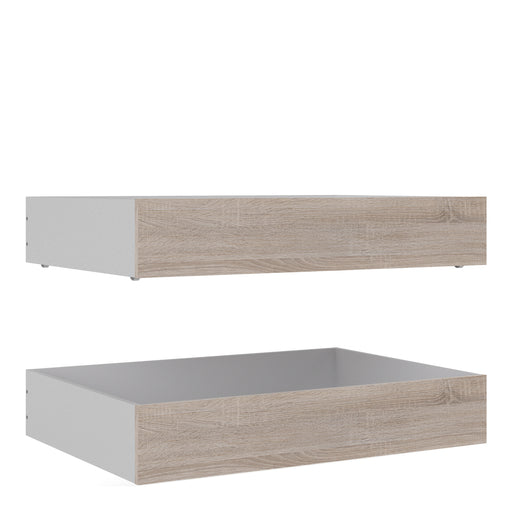 Naia Naia Set of 2 Underbed Drawers (for Single or Double beds) in Truffle Oak