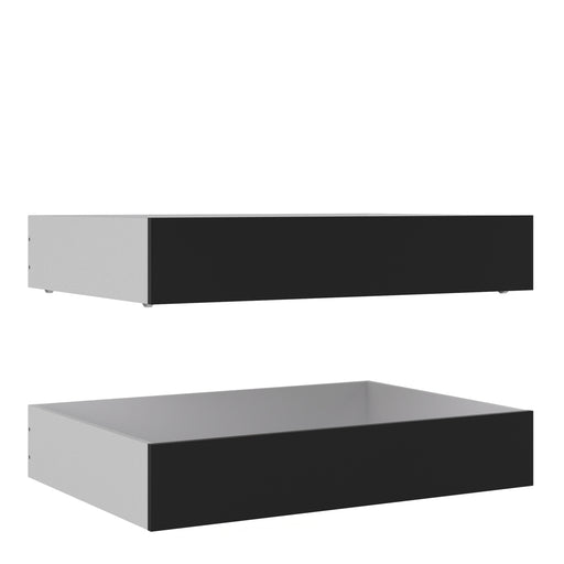 Naia Naia Set of 2 Underbed Drawers (for Single or Double beds) in Black Matt