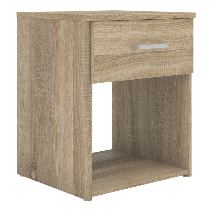 Space Bedside Table 1 Drawer in Oak