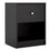 May Bedside Table 1 Drawer in Black