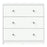 May Chest of 3 Drawers in White
