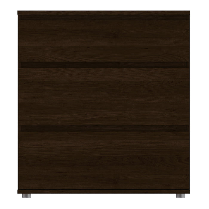 Nova Chest of 3 Drawers in Dark Walnut