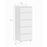 Nova Narrow Chest of 5 Drawers in White