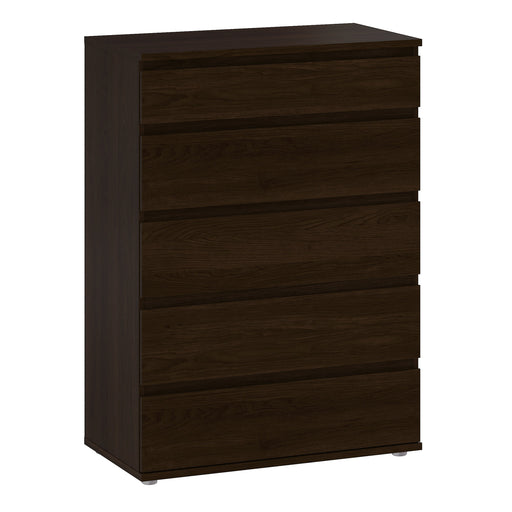 Nova Chest of 5 Drawers in Dark Walnut