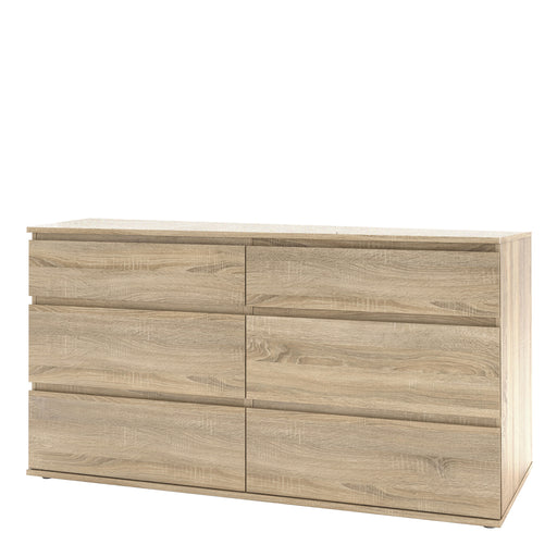 Nova Wide Chest of 6 Drawers (3+3) in Oak