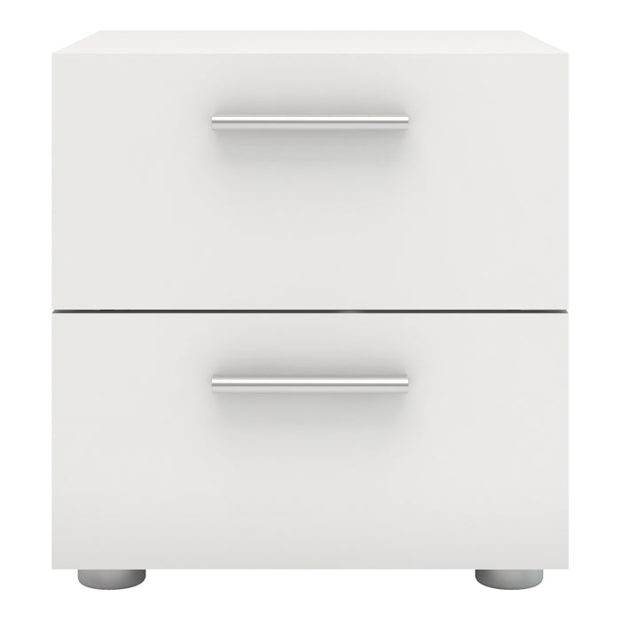 Pepe Bedside Table 2 Drawers in White