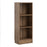 Basic Low Narrow Bookcase (2 Shelves) in Walnut