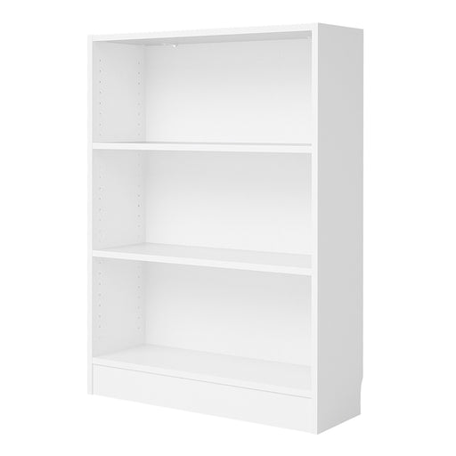 Basic Low Wide Bookcase (2 Shelves) in White