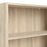 Basic Low Wide Bookcase (2 Shelves) in Oak