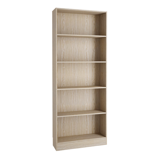 Basic Tall Wide Bookcase (4 Shelves) in Oak
