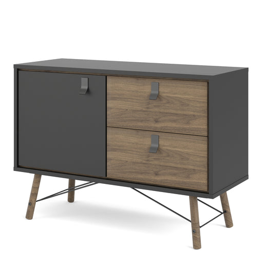 Ry Sideboard with 1 door + 2 drawers Black Walnut