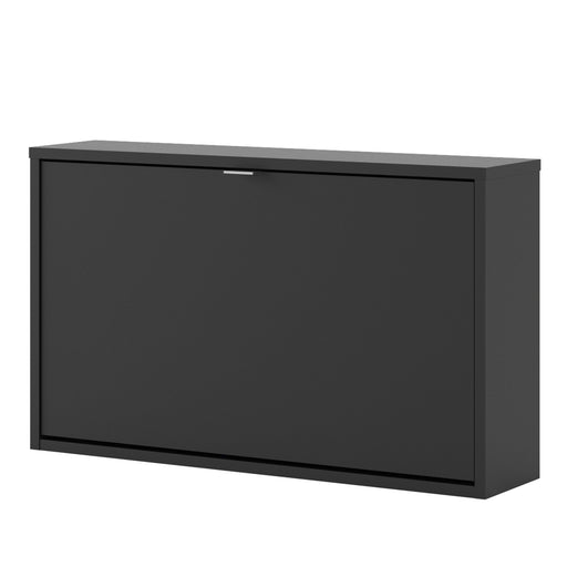 Shoes Shoe cabinet  w. 1 tilting door and 1 layer Black