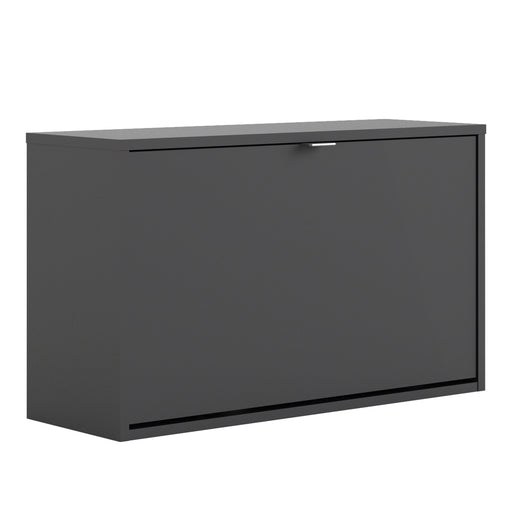 Shoes Shoe cabinet  w. 1 tilting door and 2 layers Black