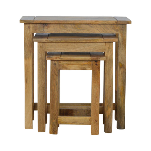 Solid Wood Stool Set of 3