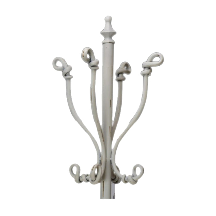 Cream Metal Coat Rack