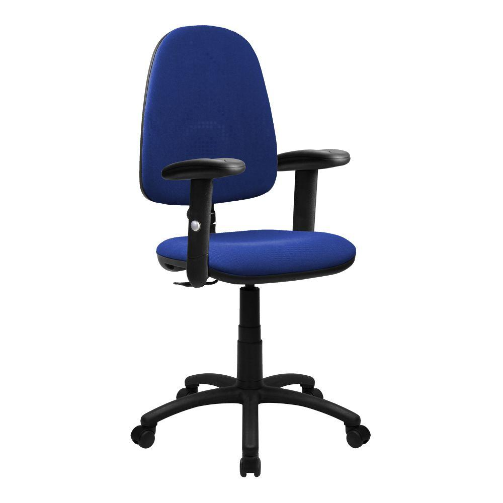 Java 100 Medium Back Operator Chair - Single Lever with Height Adjustable Arms - Blue