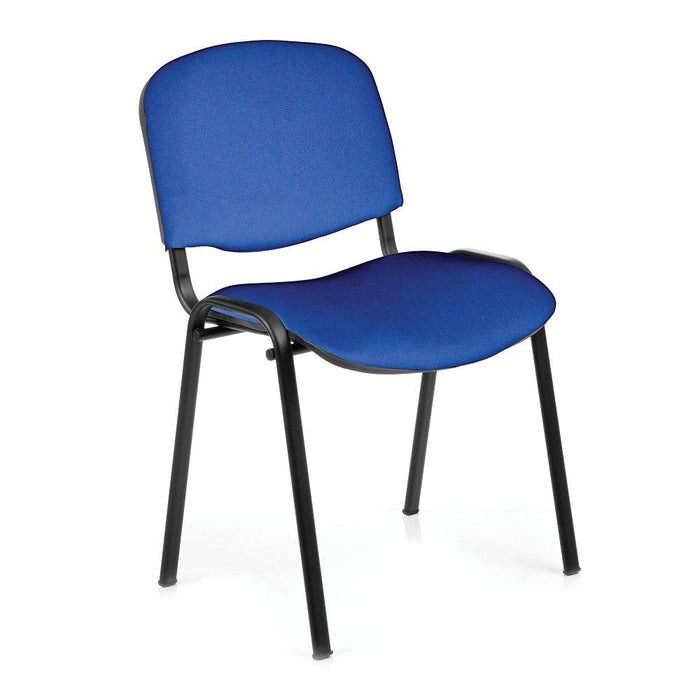 Iso Black Framed Stackable Conference/Meeting Chair - Blue - Minimum Order Quantity -10