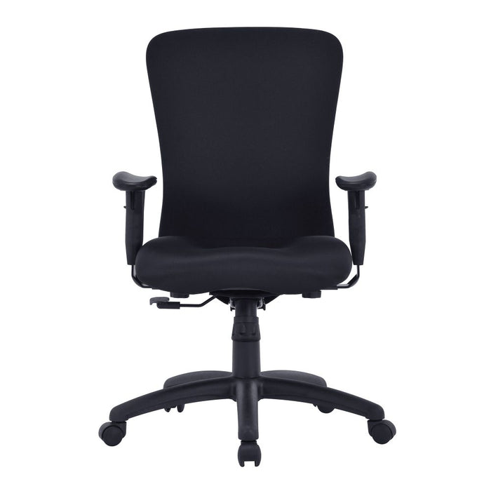 Fortis Bariatric Task/Manager Chair with Integrated Lumbar Support - Black