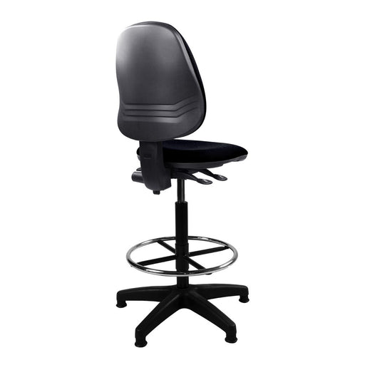 Java 200 Medium Back Draughtsman Chair - Twin Lever - Black
