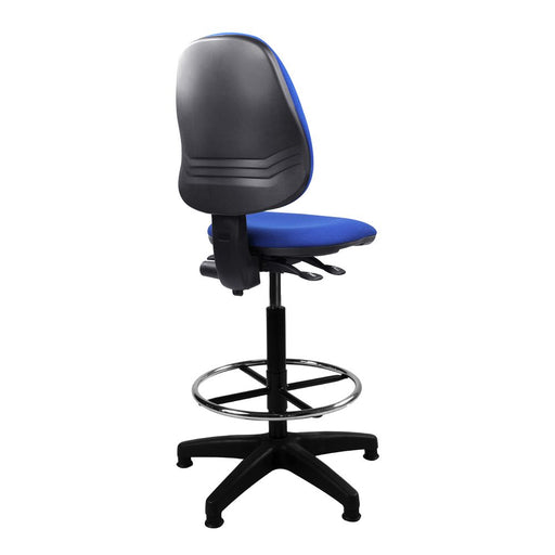 Java 200 Medium Back Draughtsman Chair - Twin Lever - Blue