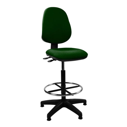 Java 200 Medium Back Draughtsman Chair - Twin Lever - Green