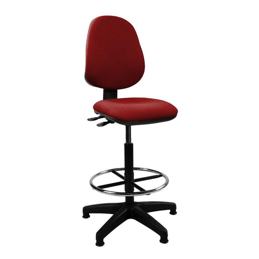 Java 200 Medium Back Draughtsman Chair - Twin Lever - Red