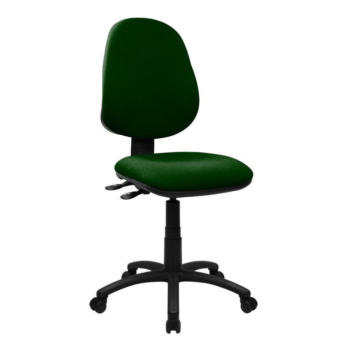 Java 300 Medium Back Synchronous Operator Chair - Triple Lever - Green