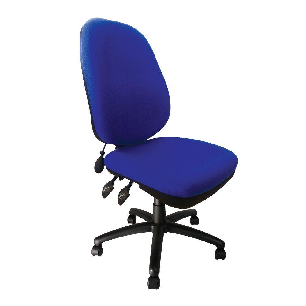 Carlisle High Back Operator Chair with Inflatable Lumbar Support - Blue