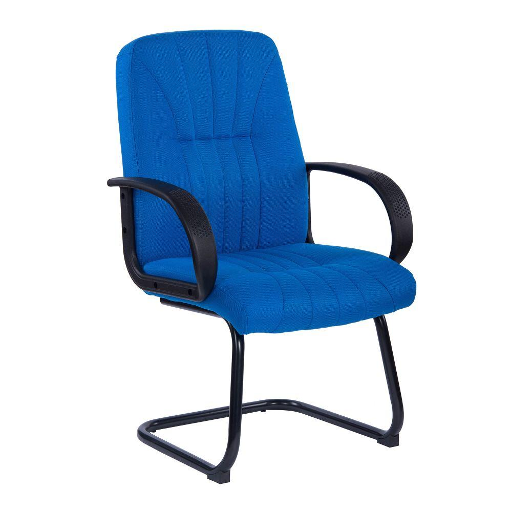 Pluto High Back Executive Armchair with Fan Stitch Design and Sculptured Back - Blue