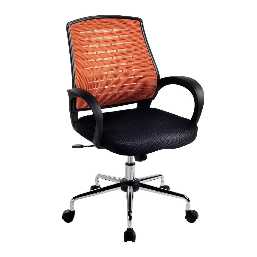 Carousel Medium Mesh Back Operator Chair - Orange