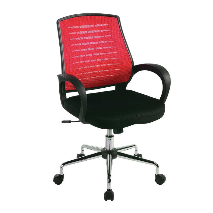 Carousel Medium Mesh Back Operator Chair - Raspberry
