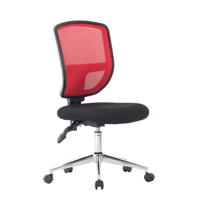 Nexus  Medium Back Designer Mesh Operator Chair with Sculptured Lumbar and Spine Support - Red
