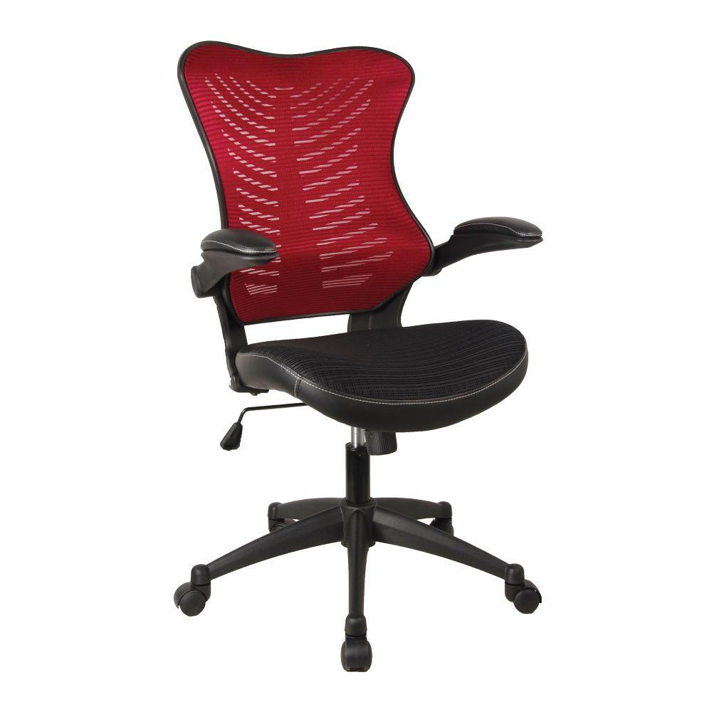 Mercury 2 Executive Medium Back Mesh Chair with AIRFLOW Fabric - Red