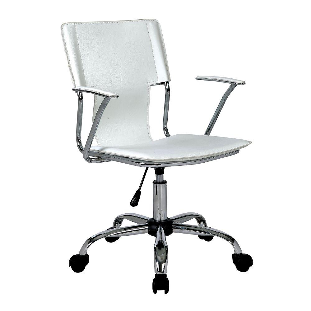Trento Designer Slimline Armchair with Tubular Chrome Frame - White