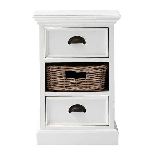 Halifax Bedside Storage Unit with Basket