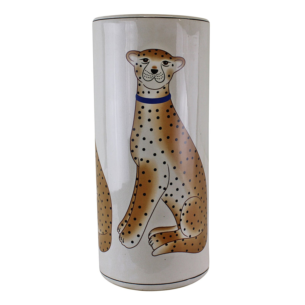 Ceramic Umbrella Stand, Leopard Design