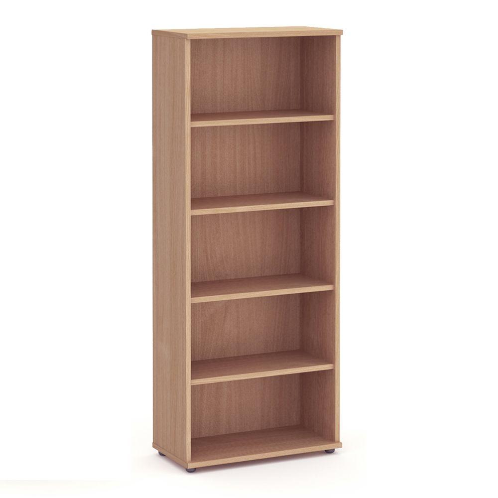 Aspire Book Case - 2000mm - 4 Shelf - Beech