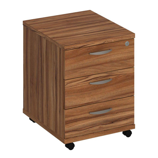 Aspire Mobile Pedestal - 500mm Depth - 510mm High - 3 Drawer - Walnut
