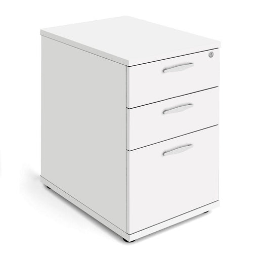 Aspire Desk High Pedestal - 600mm Depth - 730mm High - White