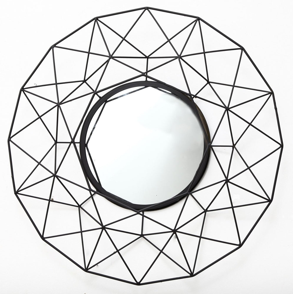 Geometric Mirror in Black 64cm