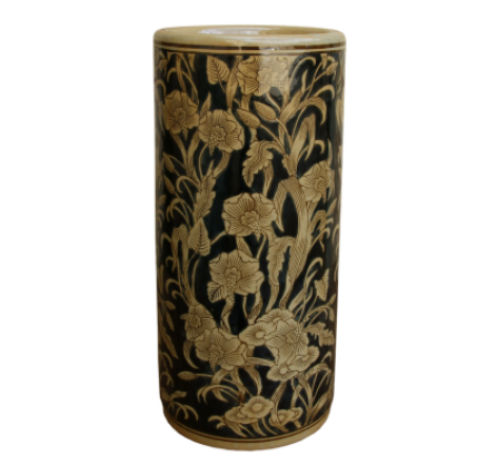 Ceramic Embossed Umbrella Stand, Regal Design