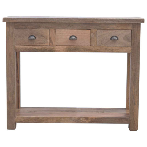 Solid Wood Hallway Console Table with 3 Drawers