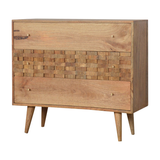 Tile Carved Chest of Drawers