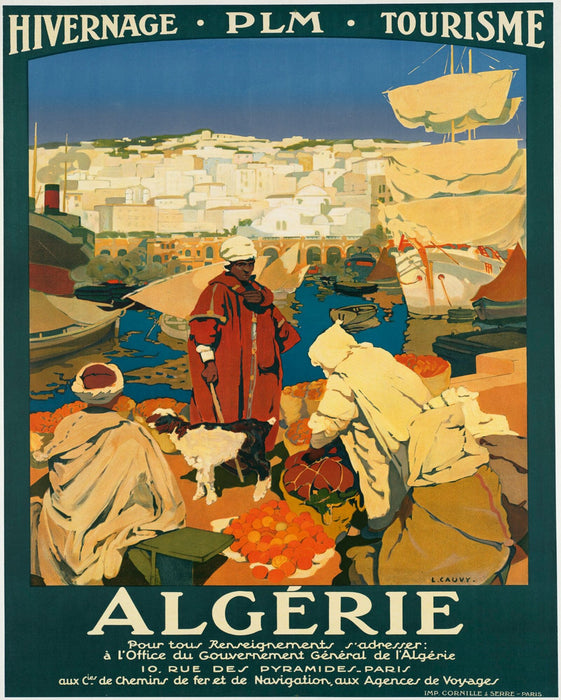 Vintage Metal Sign - Retro Advertising - Algerie Tourism