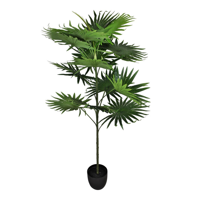 Artificial Fan Palm Tree with 14 leaves, 140cm