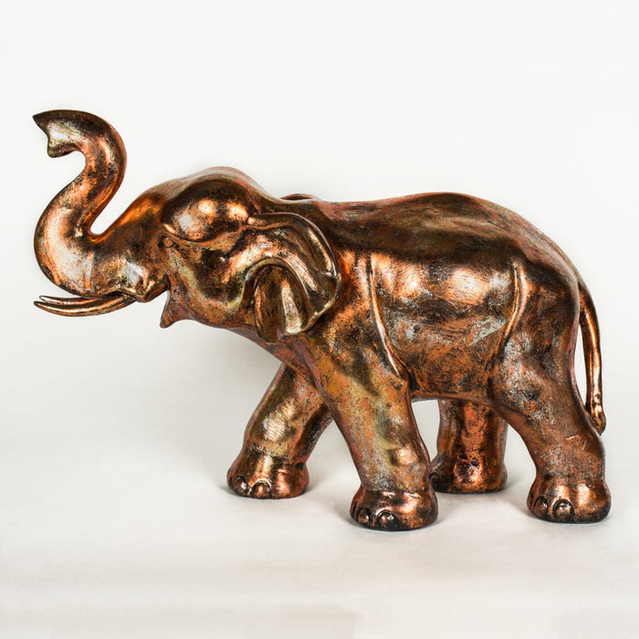 Bronze Finish Large Elephant Ornament