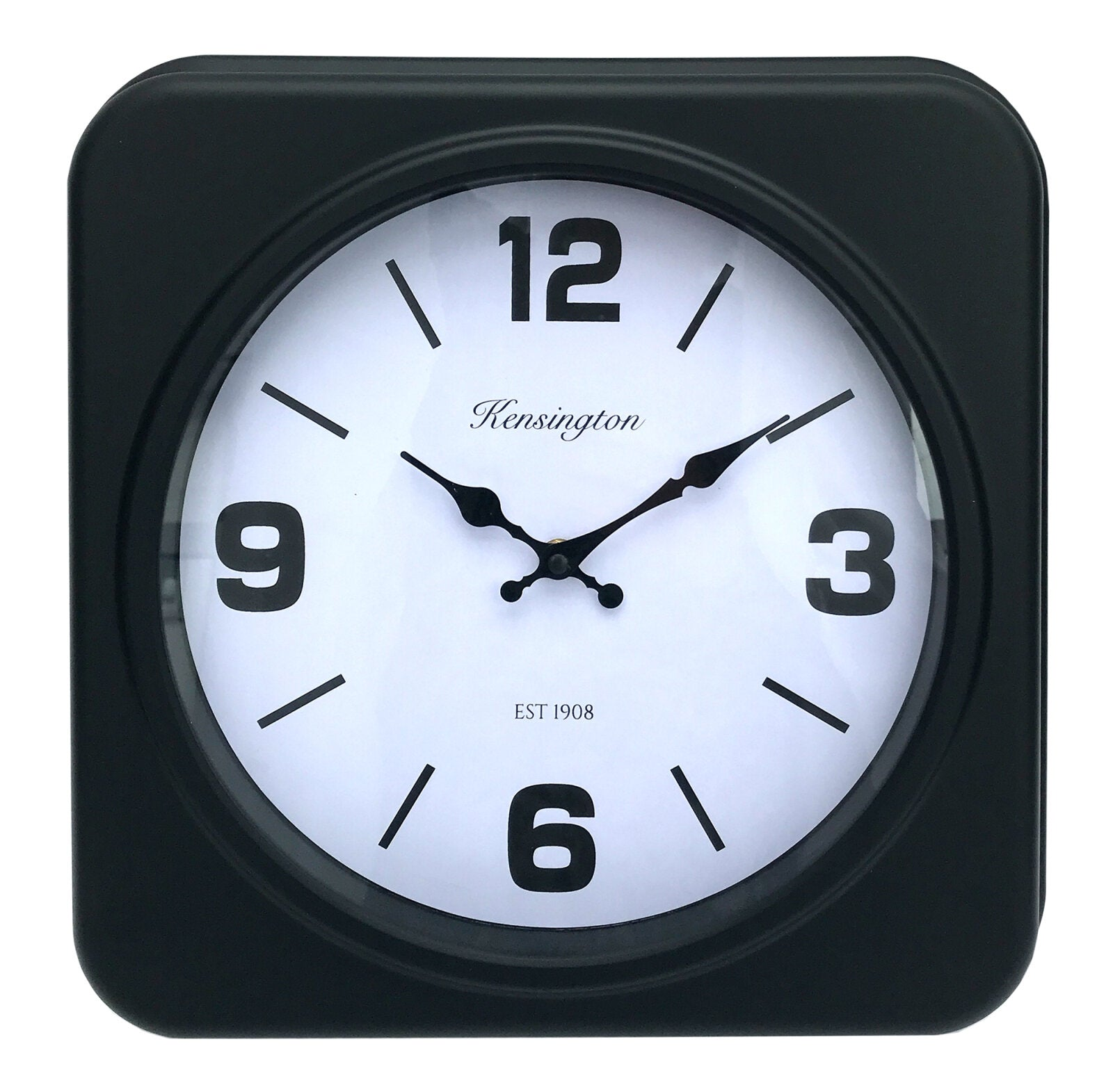 Square Black Clock