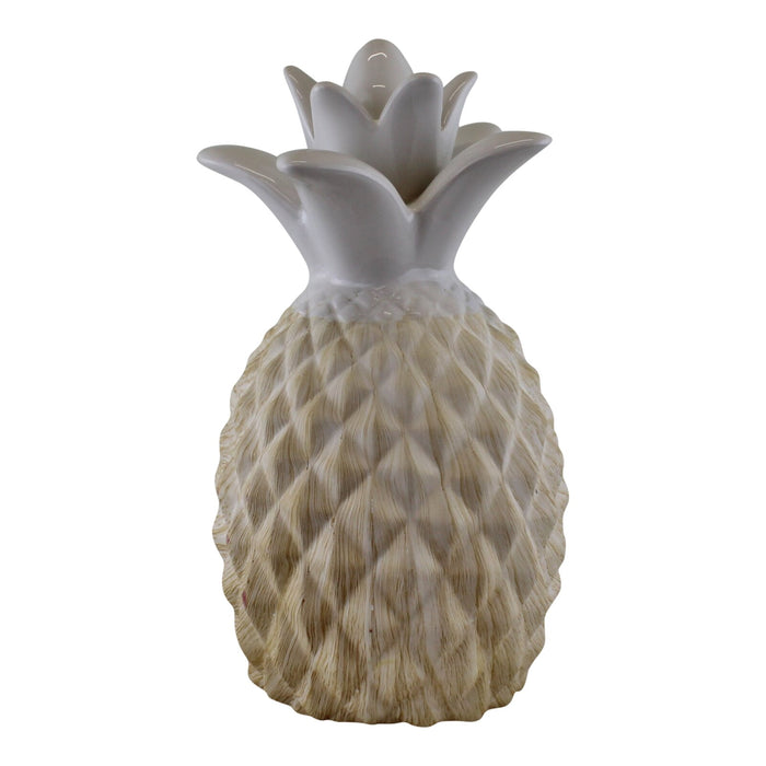 Ceramic White Pineapple Ornament 24cm